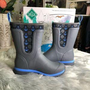 Muck Boots Kids Anchor Design Rain Boots NIB ⚓️